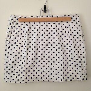 J Crew black and white mini skirt size 6